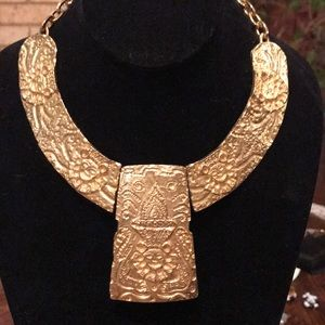 Kenneth Lane rare Pre-Columbian gold tone necklace